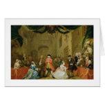 The Beggar's Opera, Scene III, Act XI, 1729 (oil o Greeting Card