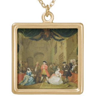 The Beggar's Opera, Scene III, Act XI, 1729 (oil o Gold Plated Necklace