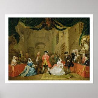 The Beggar's Opera, Scene III, Act XI, 1729 (oil o Poster