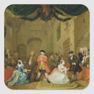 The Beggar's Opera, Scene III, Act XI, 1729 (oil o Square Sticker