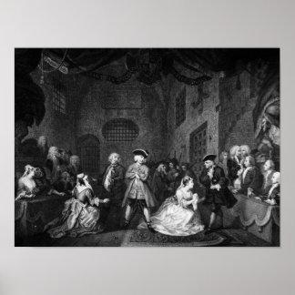The Beggar's Opera, Scene III, Act XI, c.1728 Poster
