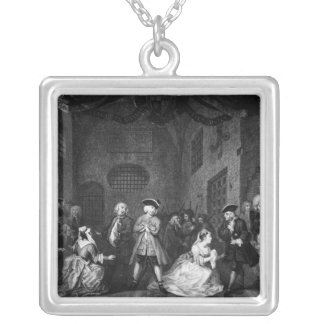 The Beggar's Opera, Scene III, Act XI, c.1728 Silver Plated Necklace