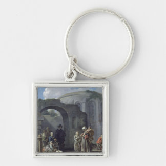 The Beggars Silver-Colored Square Keychain