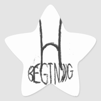 the begining of the end star sticker