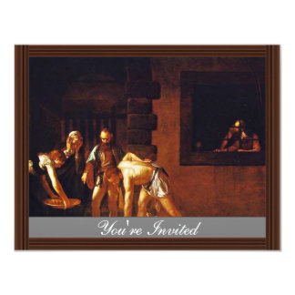 The Beheading Of John The Baptist For The Oratory Personalized Invitation