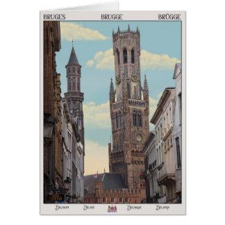The Belfry in Brugge Greeting Card