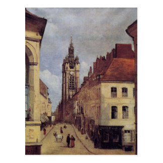 The Belfry of Douai by Camille Corot Postcard