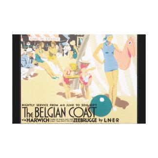 The Belgian Coast_Vintage Travel Poster Canvas Print