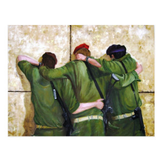 The Believers Wailing Wall Painting Postcard