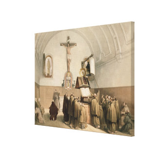 The Bell Ringers at the Oratory of the Capucines, Stretched Canvas Print