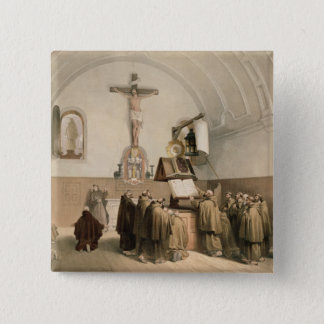 The Bell Ringers at the Oratory of the Capucines, Pinback Button