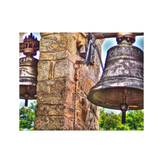 The Bell Tower Antique Stone Arches Canvas Print