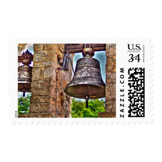 The Bell Tower Antique Stone Arches Postage Stamp