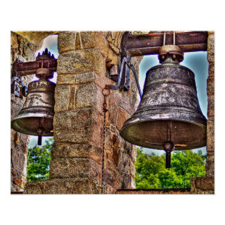 The Bell Tower Antique Stone Arches Poster