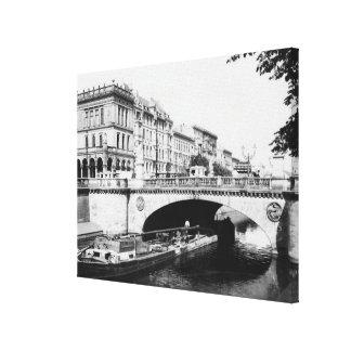 The Belle-Alliance Bridge, Berlin, c.1910 Canvas Print
