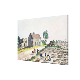 The Belle Alliance Farm after  Battle of Canvas Print