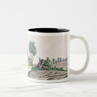 The Belle Alliance Farm after  Battle of Two-Tone Coffee Mug