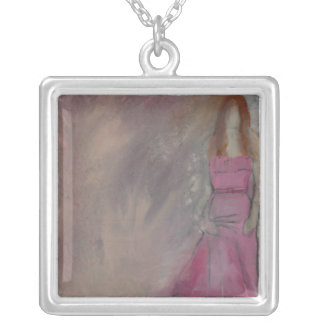 The Belle of the Ball-Necklace Square Pendant Necklace