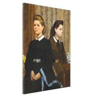 The Bellelli Sisters by Edgar Degas Canvas Print
