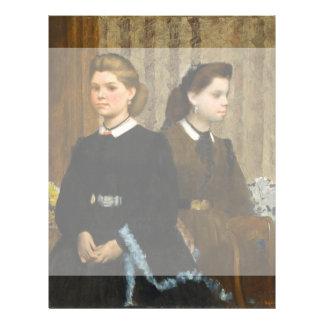 The Bellelli Sisters by Edgar Degas Flyer
