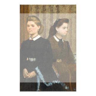 The Bellelli Sisters by Edgar Degas Custom Flyer