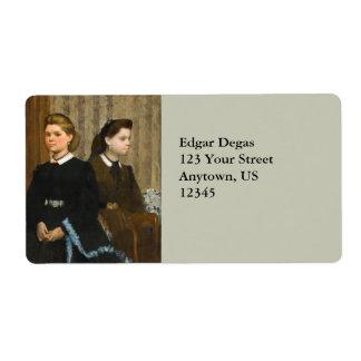 The Bellelli Sisters by Edgar Degas Label