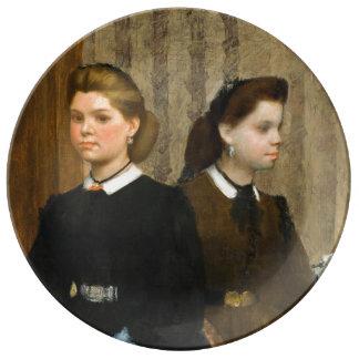 The Bellelli Sisters by Edgar Degas Porcelain Plates