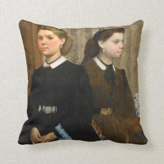 The Bellelli Sisters by Edgar Degas Throw Pillows