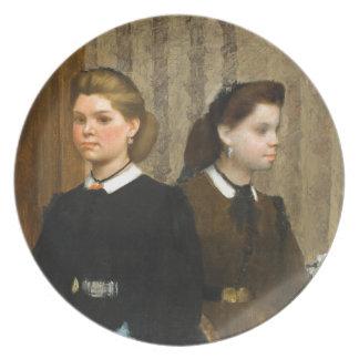 The Bellelli Sisters by Edgar Degas Plate