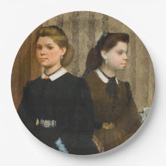 The Bellelli Sisters by Edgar Degas 9 Inch Paper Plate