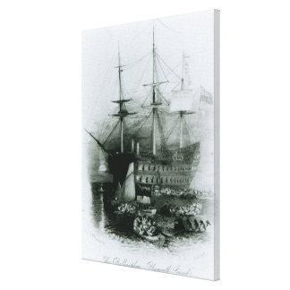 The Bellerophon at Plymouth Sound Canvas Print