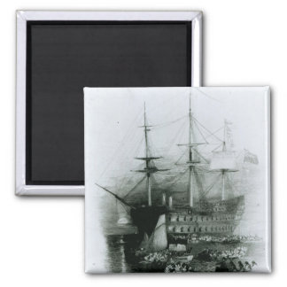 The Bellerophon at Plymouth Sound Fridge Magnets
