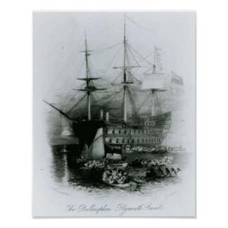 The Bellerophon at Plymouth Sound Poster