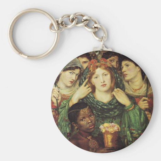 The Beloved by Dante Raphael Rossetti Basic Round Button Keychain