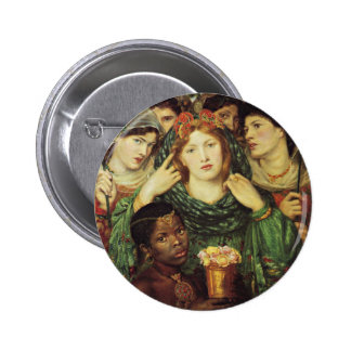 The Beloved by Dante Raphael Rossetti Button
