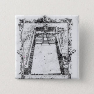 The Belvedere Court at the Vatican Rome, 1581 Pinback Button