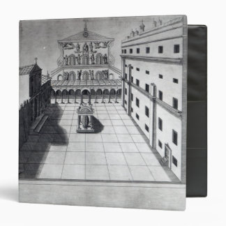 The Belvedere Court in Old St. Peter's Rome 3 Ring Binder