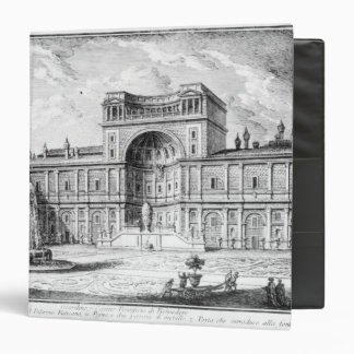 The Belvedere Court in the Vatican Rome 3 Ring Binder