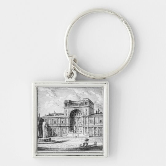 The Belvedere Court in the Vatican Rome Keychain