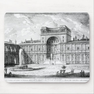 The Belvedere Court in the Vatican Rome Mouse Pad