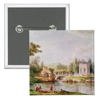 The Belvedere, Petit Trianon 2 Inch Square Button