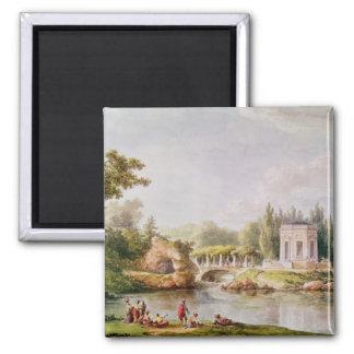 The Belvedere, Petit Trianon 2 Inch Square Magnet