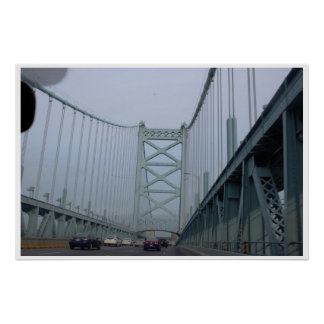 The Ben Franklin Bridge Poster