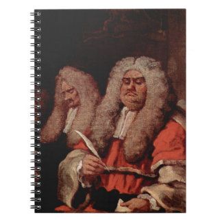 The Bench by William Hogarth Notebook