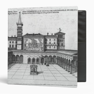 The Benediction Loggia of the Old Vatican 3 Ring Binder