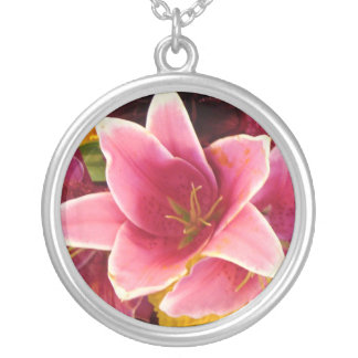 The Beneficial Blossom Round Pendant Necklace