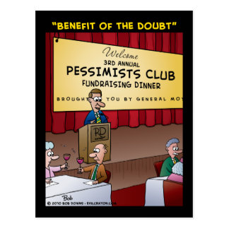 """""""The Benefit Of The Doubt"""" Postcard"""