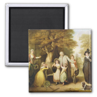 The Benevolent Heir or the Tenant Restored to his 2 Inch Square Magnet