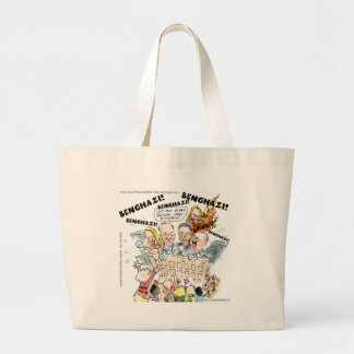 The Benghazi Shuffle Funny Large Tote Bag