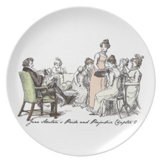 The Bennets of Longbourn - Jane Austen's P&P Melamine Plate